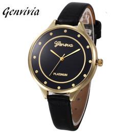 2019 relógio de padrão de cor Genvivia marca quartz watch mulheres multi candy cor pu cinto de couro relógio de pulso padrão único relógio relogios femininos # a8 relógio de padrão de cor barato