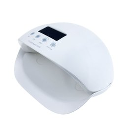 Wholesale Lcd Nail - High Power 50W Nail Dryer SUN5se UV Lamp Nail LED Lamp Manicure With LCD Timers For Dryer Gel Polish Automatic sensing