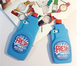 Wholesale Christmas Phone Cases - Newest christmas Fresh Couture Fragrance Cleaning Spray Bottle Soft Rubber Silicone Case For iphone5 6 7 plus Cell Phone Cases DHL shipping