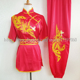 Rotinas de exercícios on-line-Roupas de kungfu chinês wushu uniform taichi garment desempenho de rotina terno changquan exercício roupa para menino homens crianças mulheres menina crianças