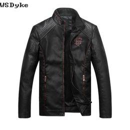 Wholesale Jacket Cuir Men Black - 2017 New Fashion Velet Lining Jacket Leather Men High Quality Slim Fit Blouson Cuir Homme