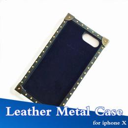 2019 bordo metallico Più nuovo marchio di lusso in metallo bordo cassa del telefono per iPhone X moda protettiva Shell per iPhone 6/7/8 6/7 / 8plus caso della copertura bordo metallico economici