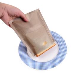 2019 aa creme Backen-Faser-Beutel der hohen Temperatur nicht-klebende Teflonbrot-Beutel-Sandwich-Toast-Beutel beständig einfach, Küchen-Bäckerei-Werkzeuge zu säubern