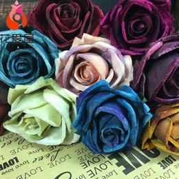 Multicolor ouro rosa premium flor de flanela simulação casa decoração de casamento continental flor arranjo de