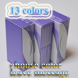 Wholesale fresh tone - Top Quality Freeshipping Real 13 color fresh color 3 Tone contact lenses box 100pc =50pair Contact lens case