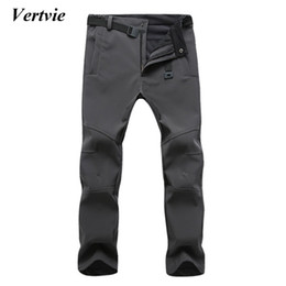Wholesale boys waterproof trousers - Wholesale- Vertvie Sports Pants For Men Snowobile Skiing Trousers For Men Winter Ski Pants For The Boy Snow Ice Skating Pants Sportswear