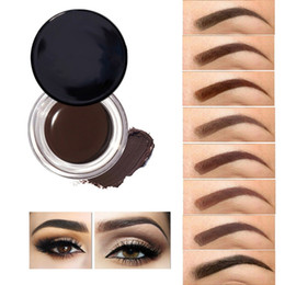 Wholesale pro chocolate - Pro Eyebrow Enhancers Cream Brown Black Eye Brow Tint Makeup Tool Long Lasting Waterproof Eye Liner Gel Smudgeproof Cosmetics