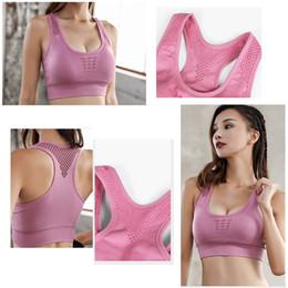 0a5568374c blue white striped bra NZ - Tops for Women 2018 High-intensity fitness yoga  vest
