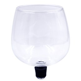 Wholesale Drinking Glassware - Novelty Design Wine Glass Cup Crystal Drinking Cup with Silicone Bottle Stopper Kitchen Bar Glassware Wine Whisky Copo