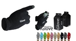 Wholesale Ipad Acrylic - Unisex iGlove Capacitive Touch Screen Gloves for iphone for ipad smart phone iGloves gloves Copy with Retail Package 100pcs=50pairs