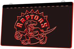 LS832-r-Raptors-Neon-Sign Decor Frete Grátis Dropshipping Atacado 6 cores para escolher de Fornecedores de kits noite luz por atacado