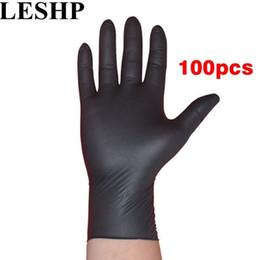 guanti meccanici xl Sconti LESHP 100 pz / lotto meccanico monouso guanti pulizia domestica lavaggio nero nitrile laboratorio nail art guanti antistatici D18110705