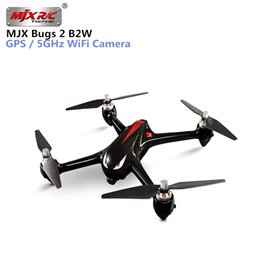 Argentina MJX Bugs 2 W B2W RC Quadcopter 2.4G 6 ejes Gyro GPS sin escobillas Motor Drone RC con WIFI 1080P Cámara FPV Helicopter VS H501S supplier gyro rc helicopter brushless motor Suministro