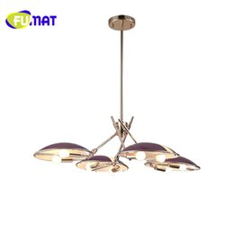 Wholesale Purple Halogen Lights - FUMAT Beatles 4 Heads Northern Post-modern Iron Pendant Light Creative Livingroom Restaurant Decoration Lamp Free Shipping