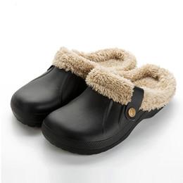 Зима теплые тапочки крытый мягкая обувь повседневная Крокус сабо с меховой флисовой подкладкой домашнего пола Женские сандалии тапочки HS476 от