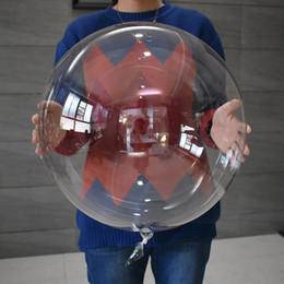 Vente chaude 18 pouces air gonflable clair ballon bulle ballons transparents haute qualité PVC décorations ballons en gros ? partir de fabricateur