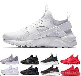 2019 weiße taufschuhe Mit Box Großhandel Huarache Ultra Run Schuhe Triple Weiß Schwarz Männer Frauen Laufschuhe Huaraches Sportschuhe Unisex Turnschuhe uns 5.5-11