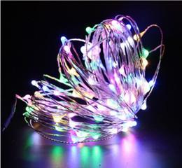 12 V 10m 100 luci Holloween Led Filo di rame Luci di colore Stringhe Decorazione albero di Natale Festival Fili in ottone String Lights lamps da