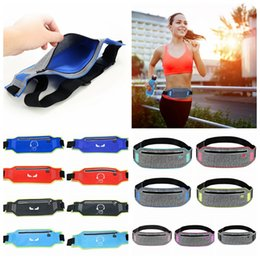 Wholesale thin waist bag - Waterproof Waist Pack Bag Belt Hip Bum Pouch Chest Bag For Outdoor Sport Running Jogging Ultra Thin DDA620