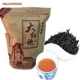 2019 alimento verde 250g Chinês chá preto Orgânico wuyi Da hong pao chá, Big Red Robe Oolong chá maduro Cuidados de Saúde novo chá Cozido Verde Food Factory Vendas Diretas alimento verde barato