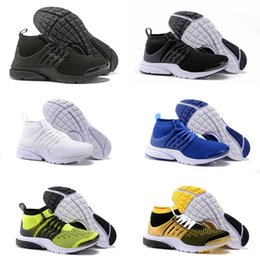 Wholesale Breathe Lighting - 2018 TOP PRESTO BR QS Breathe Black White Mens Basketball Shoes Sneakers Running Shoes For Men Sports Shoe Walking Free Shipping