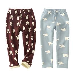 Wholesale warm leggins - 2-10 Years Winter Baby Boy Girls Pants Children Girl Thick Leggings Boys Pants Cotton Warm Velvet Trousers for Kids Leggins