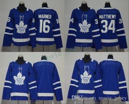 2019 ragazzi hockey jersey in bianco Uomo Donna Bambini Bambini Toronto Maple Leafs 16 Mitchell Marner 34 Auston Matthews 31 Frederik Andersen Blank Blue Maglie All Stiched Hockey sconti ragazzi hockey jersey in bianco