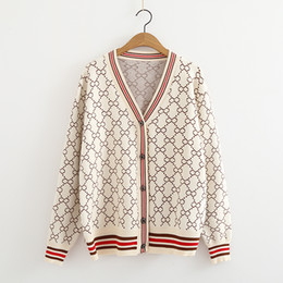 On sale 2018 autumn winter Women lady s V-neck button Long Sleeve Cardigan  sweater Oversize Luxury korean knitted Female cardie ac09f9399