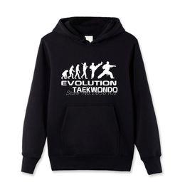Wholesale Hoody Custom - Men Custom Cool Hoody Evolution Of Taekwondo Funny Adult Birthday Gift Pullover Sweatshirt For Men Cotton Hoody Tops