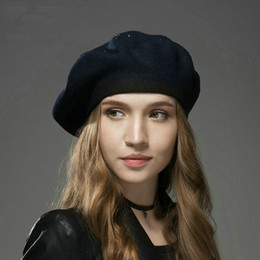 berretti rossi militari Sconti Berretti di lana autunno inverno Har Tenere caldo Beere Lana Femal Cappello Donna Fashion Painter Hat Hot Drill Beret all'ingrosso