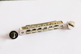 Canada En gros Pont Tune-o-Matic original style ABR-1 Chrome pour Guitare Électrique Pièces Par Pour LP SG Guitares Offre