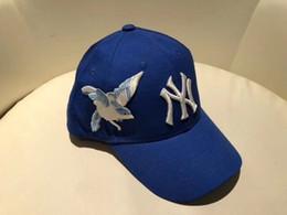 Wholesale hats lace - 2018 Designer Baseball Cap NY Embroidery Letter Sun Hats Adjustable Snapback Hip Hop Dance Hat Summer Luxury Men Women Blue Visor