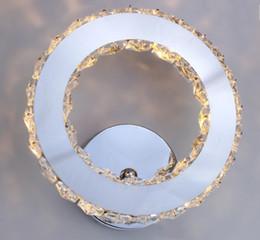Drucktastenlampe online-Led wandleuchte ring kristall wandleuchte push button licht für wohnzimmer badezimmer schlafzimmer leuchte 85-265 v nacht