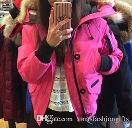 Wholesale Ladies Duck Down Jackets - Winter Bomber Parkas Women 37 Down Brand Designer Parka Hoodies Zippers Logos Ladies Jackets Warm Female Coats Cheap