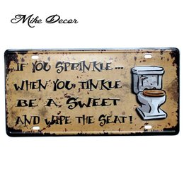 order paintings Coupons - [ Mike86 ] Toilet Funny Painting Pub Cafe Hotel decor for Room Craft Tin Sign D-532 Mix order 30*15 CM