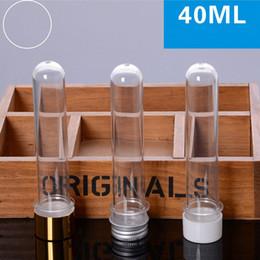 aluminiumrohre flaschen großhandel Rabatt 40ml klares Rohr HAUSTIER Badesalz-Flaschen-Süßigkeits-Vorratsbehälter-Rohr mit Aluminiumkappe Plastikverpackungsgroßhandelsflaschen