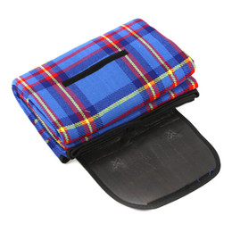 Wholesale Camping Rugs - New 200x150cm Waterproof Rug Blanket Outdoor Beach Camping Picnic Mat Plaid Blue