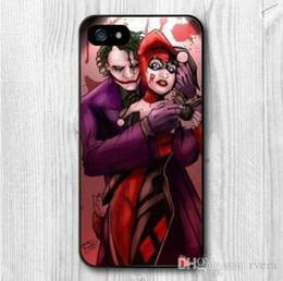 iphone joker Скидка Новая бесплатная доставка мобильный телефон Джокер и Харли Куинн крышка пластиковый чехол для iPhone 5 5S SE 5c 6 6 S 7 8 Плюс X samsung Примечание 8 S9 плюс крышка