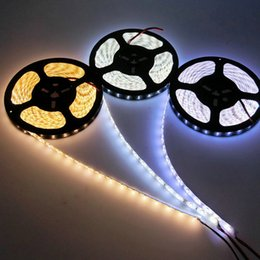 Wholesale ribbon leds - High Birght led strip 5M 5050 2835 5630 flexible led light strips Warm White Red Green Blue RGB 300 Leds 12V Ribbon tape lights