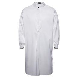 Männer abaya online-4 feste Farben muslimischen Smock Shirt Männer kleiden Langarm insgesamt Sweatshirt Sagum Casual arabische Robe Staubmantel Djellaba Abaya für Mann M ~ XXL