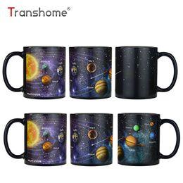 Sistemas de café on-line-Transhome Criativo Porcelana Caneca De Café 380 ml O Sistema Solar Cor Chang Caneca Leite Copos De Cerâmica E Canecas Caneca De Café Para O Escritório
