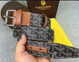 Toile de texture en Ligne-Style rétro européen de haute qualité plat texture lisse ceinture mode tigre boucle hommes ceinture designer avec boîte