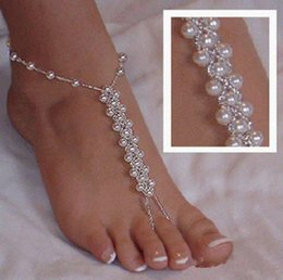 Wholesale slave dresses - Hotsale Beach Wedding Bare Anklets, Elastic Bridal Foot Ornaments Slave Ankles One Size For All Dress Up Your Feet