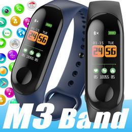 smart gesundheit fitness schrittzähler Rabatt M3 M2 MI3 Wasserdichte Gesundheit Aktivität Fitness Tracker-Farbbildschirm Smart Watch Herzfrequenz Blutdruck Kalorien Pedometer pk XIAOMI Bracele