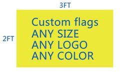 Mannschaftsflaggen online-DHL-frshmpping Fußballteam- / Vereinflaggengewohnheit machen 2ft * 3ft Digitaldruck 100D Polyester pongé kundenspezifische Flaggenrebellflagge fertigen besonders an