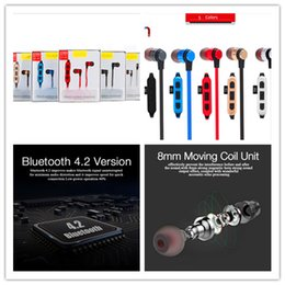 sony memory cards Canada - Metal Magnetic Bluetooth 4.2 Earphone Headset Sport Wireless Bluetooth Headset With Microphone TF memory card slot Earbuds In-ear Handfree