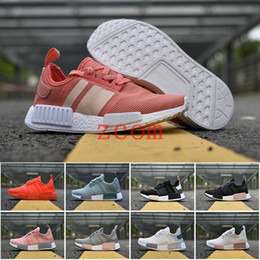 Wholesale Runner Lights - 2018 NMD R1 Primeknit PK Perfect Nmd Runner Running Shoes for Women Men High Quality Nmds Primeknit Sneakers Brand Trainers Sports Shoe