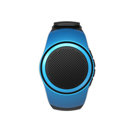 Wholesale sport mp3 player watch - B20 Bluetooth Speaker Wristband MP3 Player TF Card Support FM Audio Radio Selfie Control Wrist Portable Sport Smart Watches Speakers