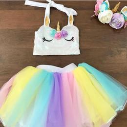 Wholesale Winter Birthday Outfits Baby Girls - Girl Birthday Rainbow Tutu Skirt Baby Girls Toddler Party Outfit Skirt girls tulle skirt baby tutu Dress tutu dress