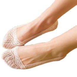 Japanese silicone mulheres on-line-5 pares nova moda full-circle silicone japonês qualidade rendas antiderrapantes stealth meias, agradável verão mulheres chinelos meias, f